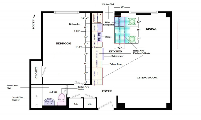 "Our ""final"" floor plan which has changed since."